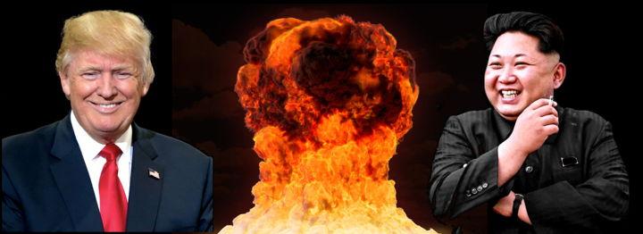 Donald Trump and Kim Jong-Un in a Nuclear War standoff
