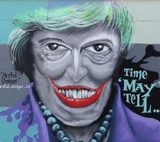 Theresa May Grafitti