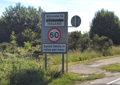 Welcome to Northern Ireland sign