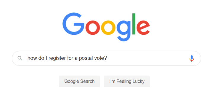 Google Postal Vote Screenshot