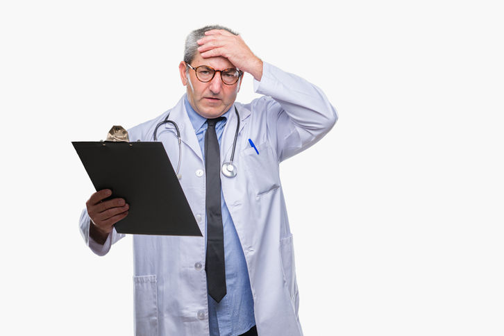 Doctor Looking Stressed