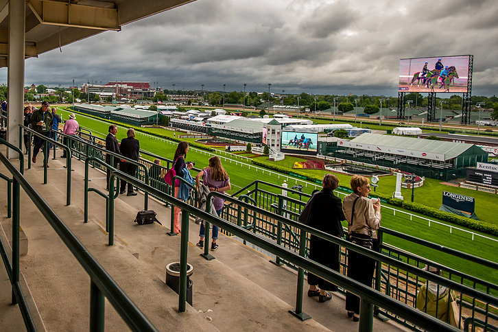 Watching Horse Race From Balcony