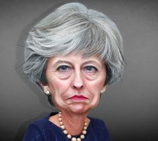 Theresa May Caricature