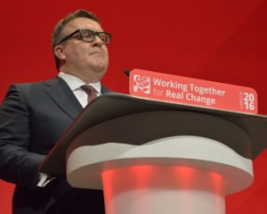Tom Watson at Podium