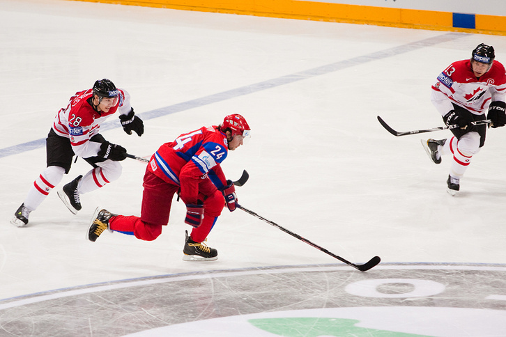 Ice Hockey Match Between Russia and Canada
