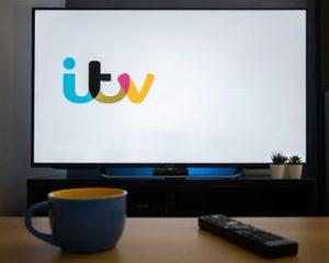 ITV Logo on TV Screen