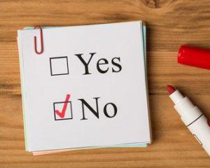 Vote Slip Marked No
