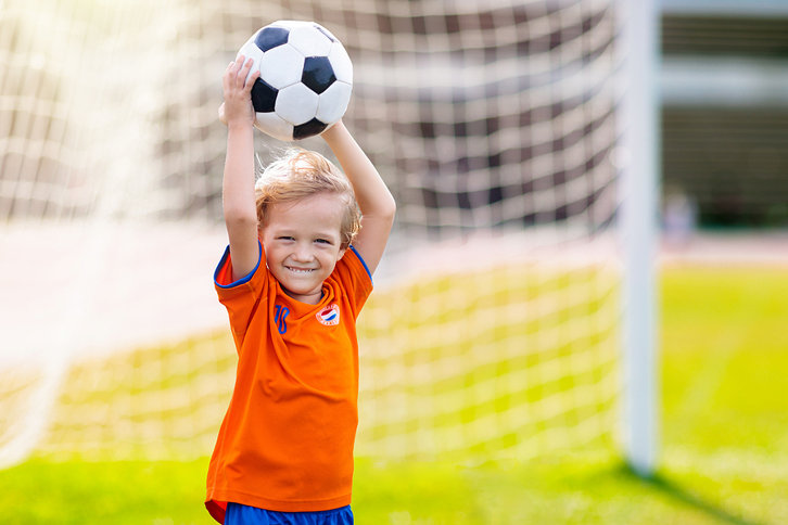 Dutch Child With Football